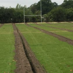 Training pitch drainage at Kingston Rugby Club
